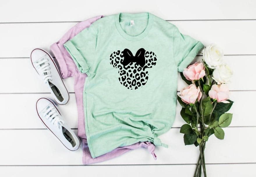 Disney Shirts for Women - A Women's Minnie Mouse cheetah print t shirt