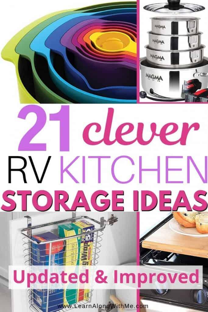 RV Kitchen Storage Ideas and other tips for RV Kitchen Organization Ideas