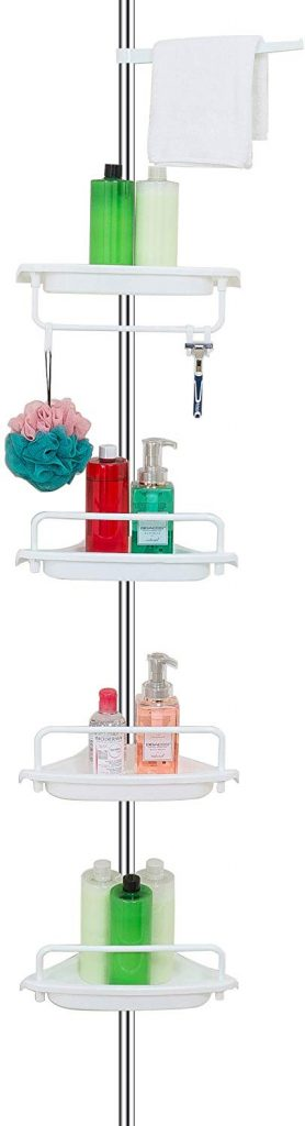 Shower Organization Ideas - tension pole corner organizer