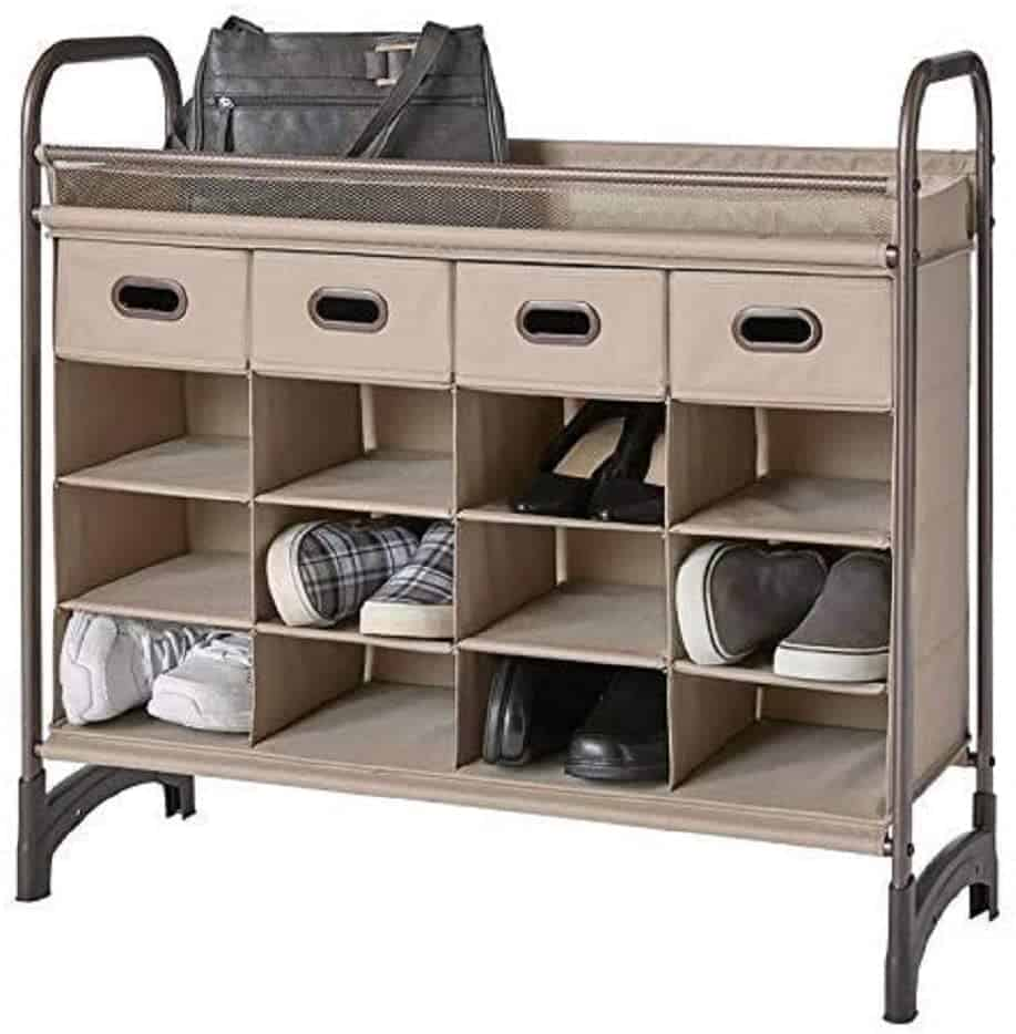 Closet organization ideas - stand with 16 cubbies and 4 drawers