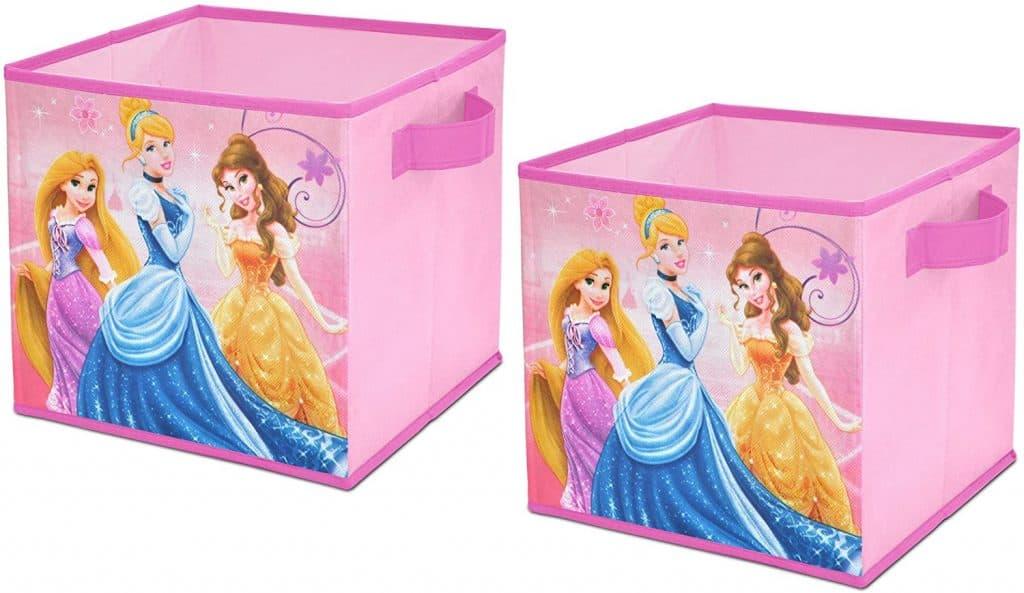 Closet organization ideas - colorul closet cubes for kids - Disney princess cubes