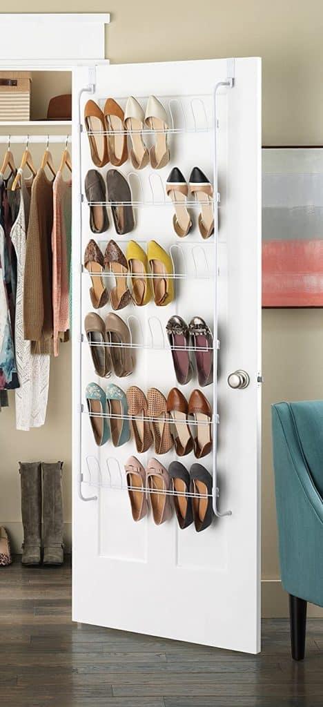 Closet organization  ideas - over the door shoe rack