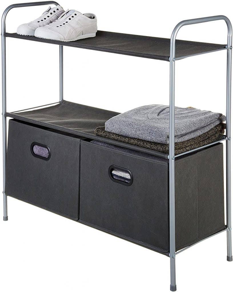 Closet Organization ideas - free standing closet shelf