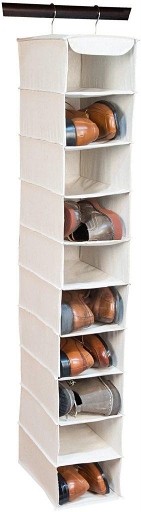 Closet organizastion - hanging shoe organizer