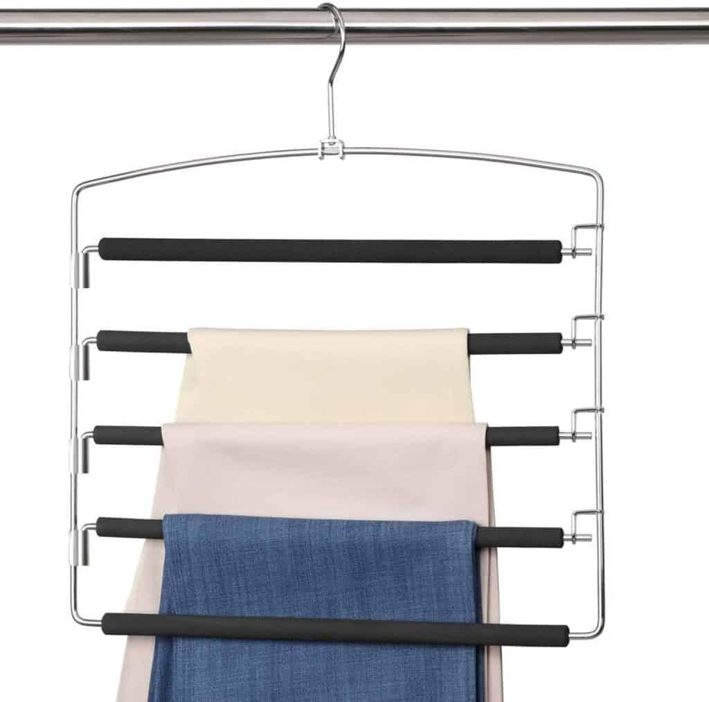 Closet organization ideas - pants hanger makes a great closet storage ideas for pants