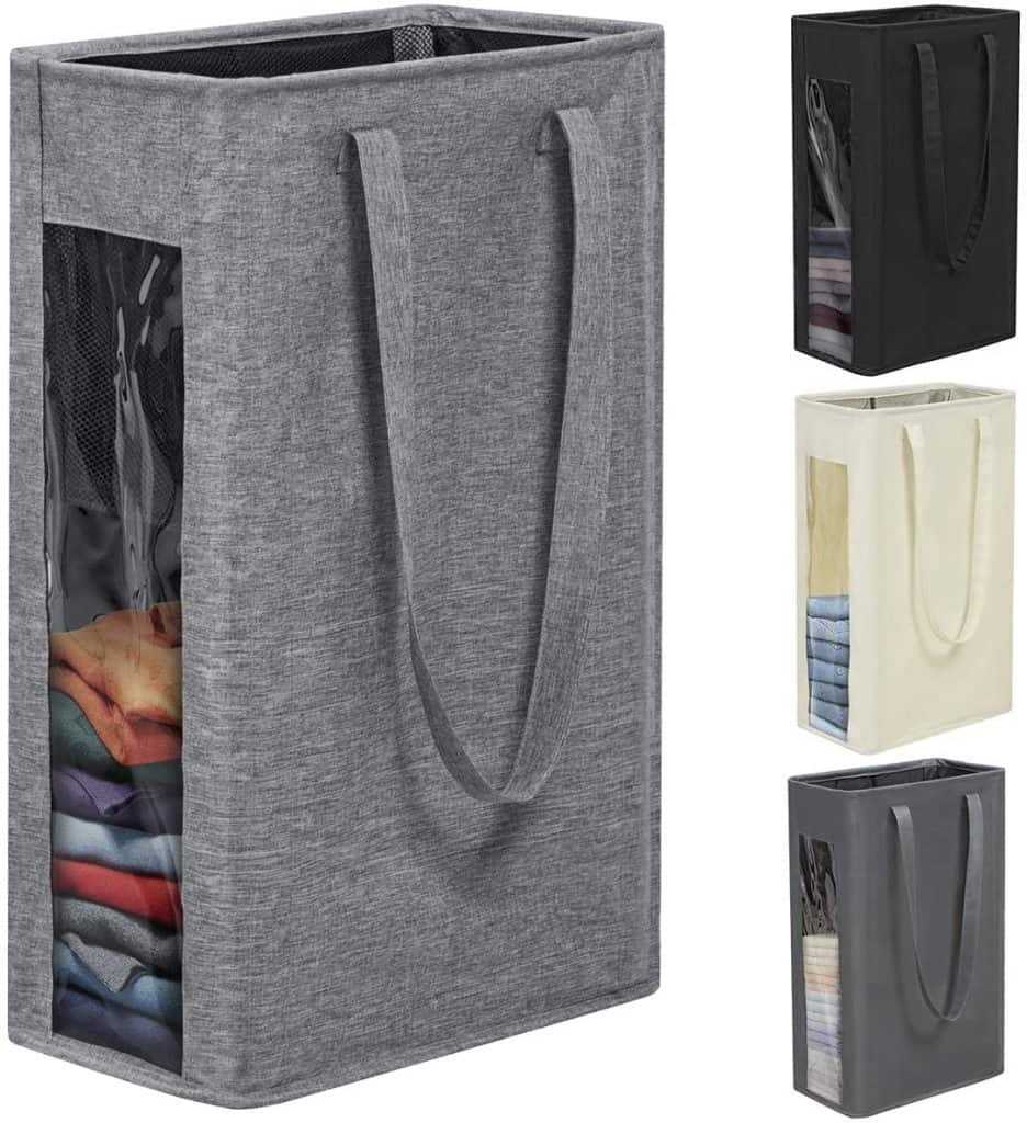 Closet organization ideas - slim laundry hampers