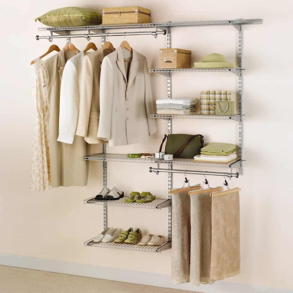 Closet organization system - the Rubbermaid configuration closet system.