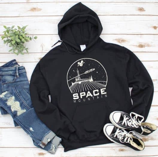 Disney Shirts for Women  - A  very cool Space Mountain hoodie