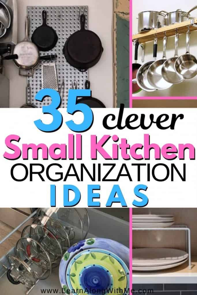 35 Clever Small Kitchen Organization Ideas