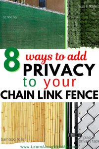 add privacy to your chain link fence