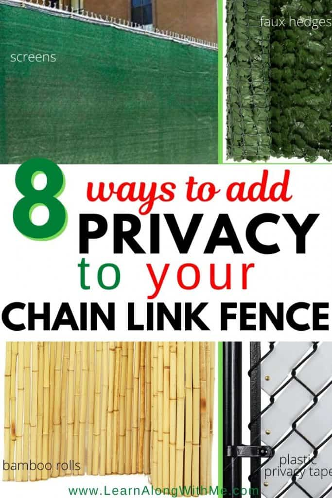What to put on a chain link fence for privacy - 8 ideas .  Chain Link Fence Privacy ideas including a chain link fence privacy screen, privacy fence tape, and other ideas on how to make a chain link fence private