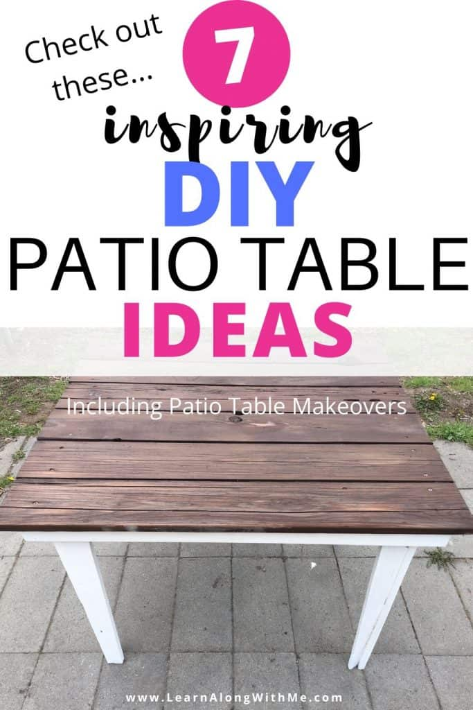 7 Inspiring DIY patio table ideas and patio table remodels