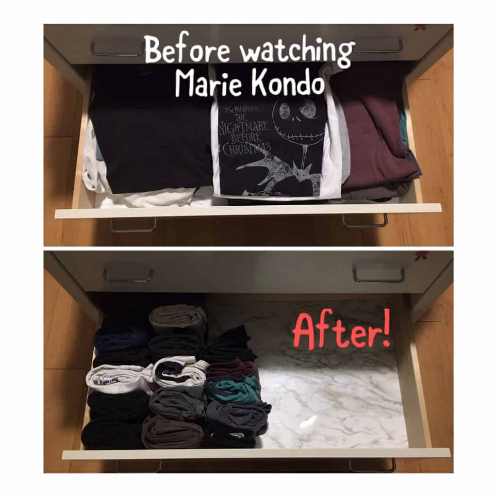 How to store clothes in an RV...learn to fold your clothes small (Konmari method shown here)