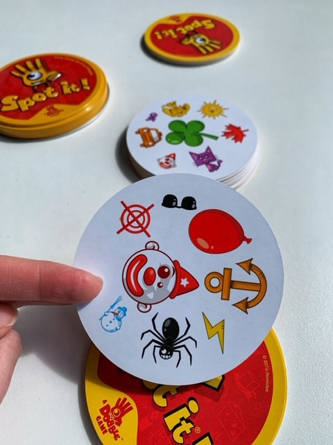Games for Family Game Night - Spot It!  A card game