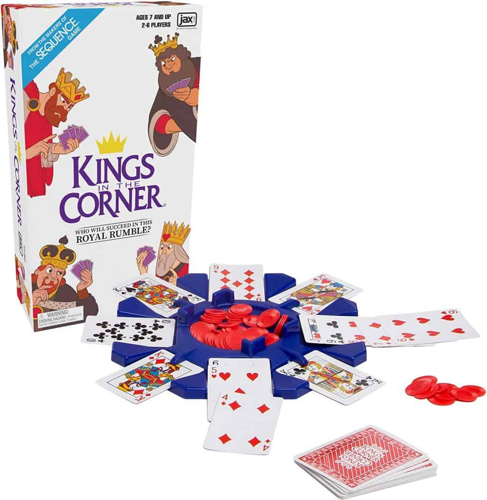 Kings in the Corner card game for family game night