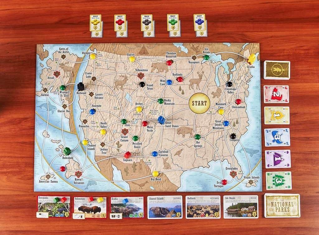 Indoor camping games  - Trekkin National Parks game