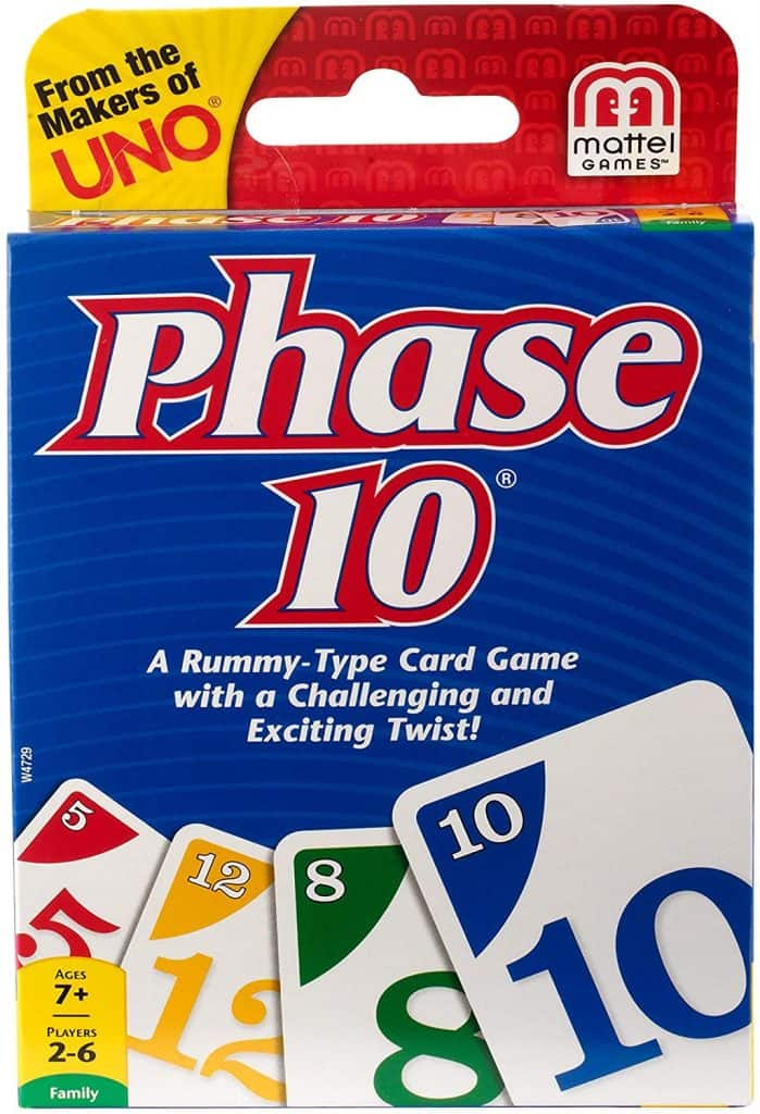 Phase 10 card game - a family game night idea