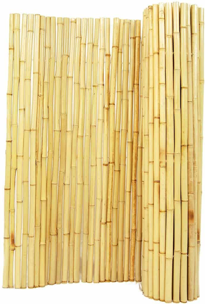 Bamboo roll to act as chain link fence privacy screen