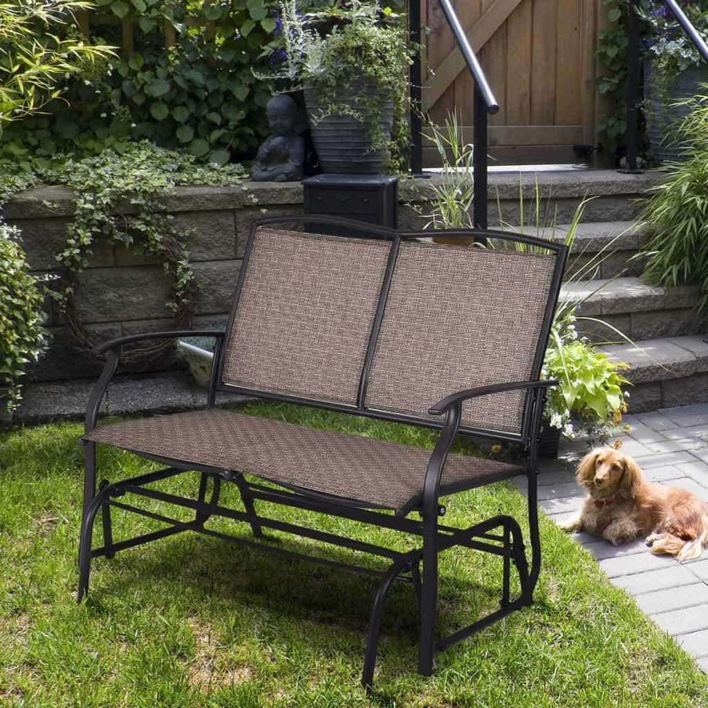 Patio furniture ideas - gliding love seat