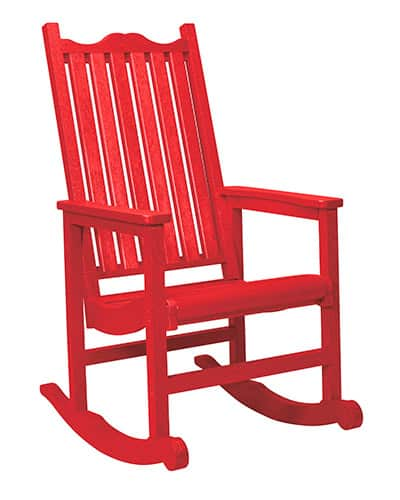 Patio furniture made from recycled plastic - a rocking chair from CR Plastic Products