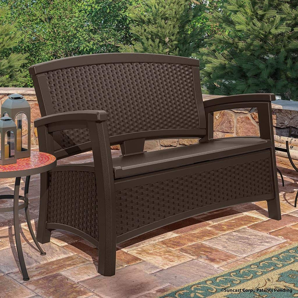 Patio ideas - outdoor storage bench with seating