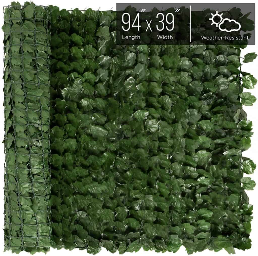 Privacy fence ideas - artificial hedge