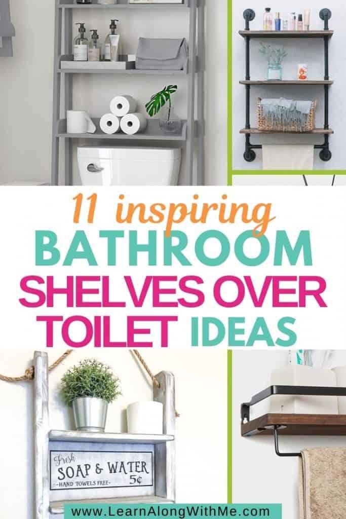 11 inspiring bathroom shelves over toilet ideas.
