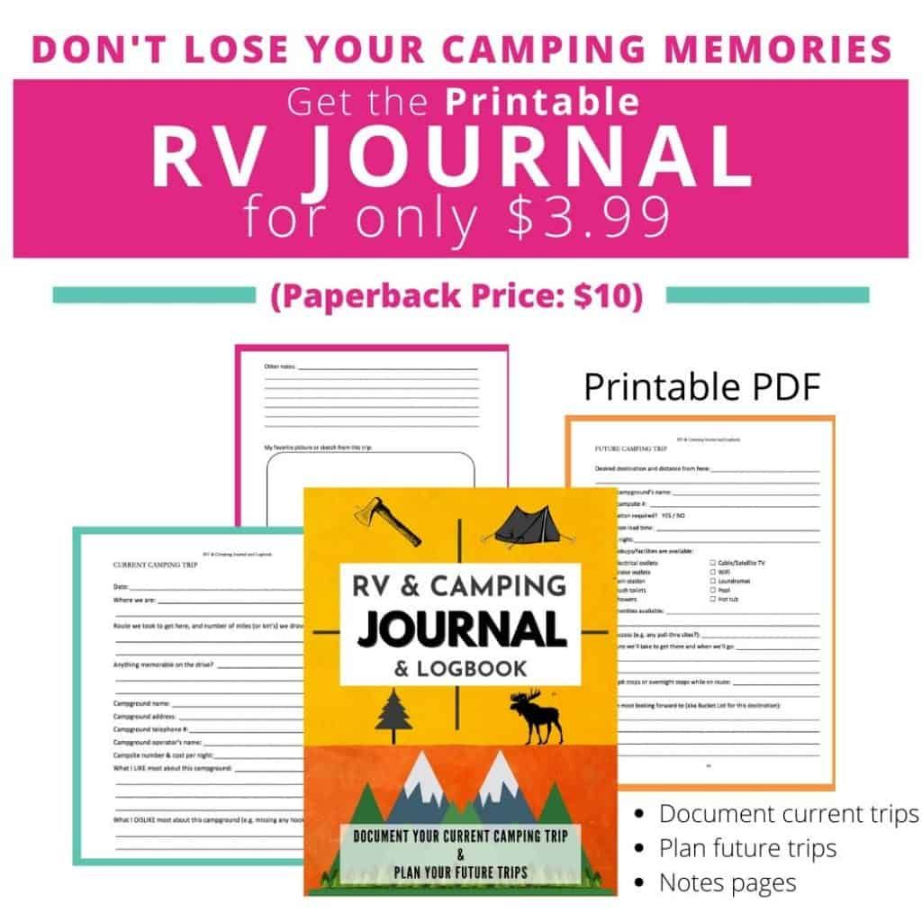 RV Journal and camping journal