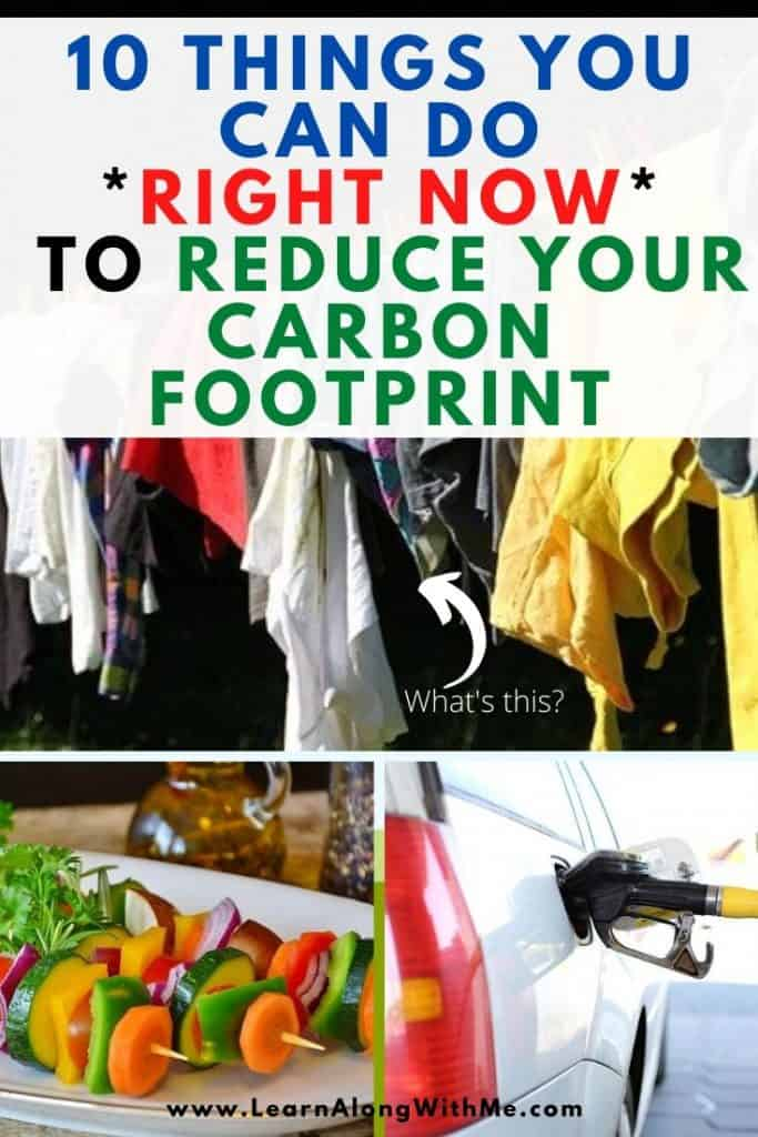 What can you do to reduce your carbon footprint?  10 things you can do right now to reduce your carbon footprint