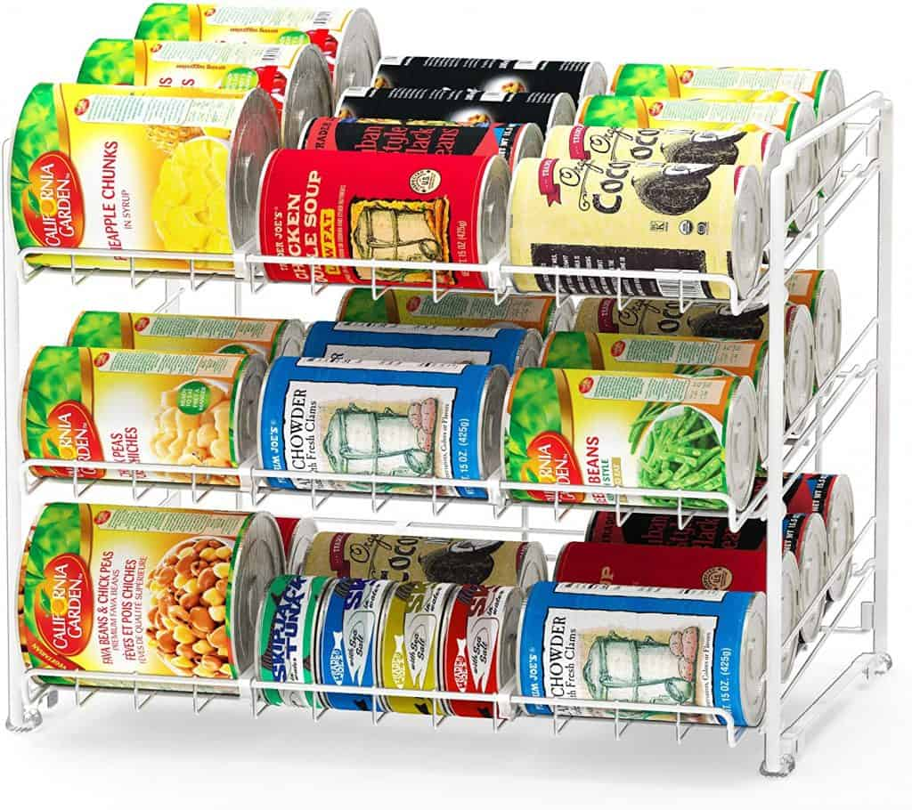 RV pantry organizer - a stacking can rack by SImple Houseware