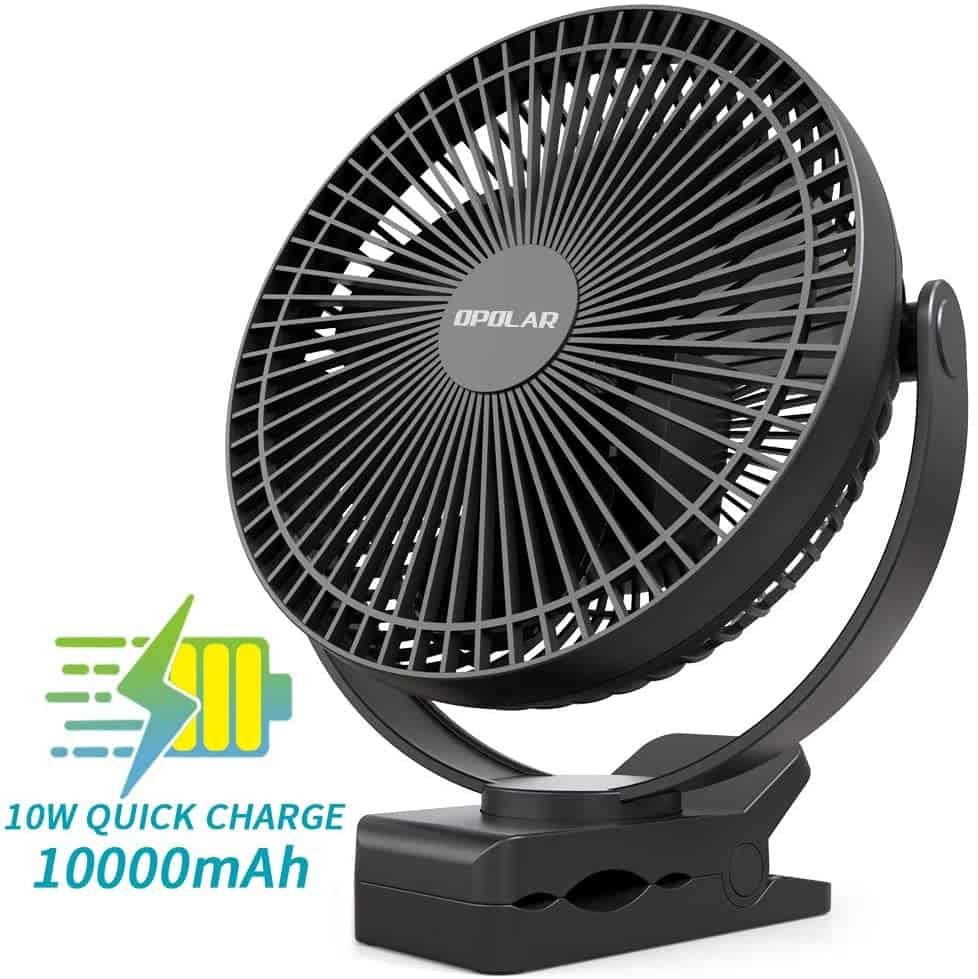 A table top fan can help you feel colder by allowing the moisture on your skin to evaporate leaving you feeling cooler