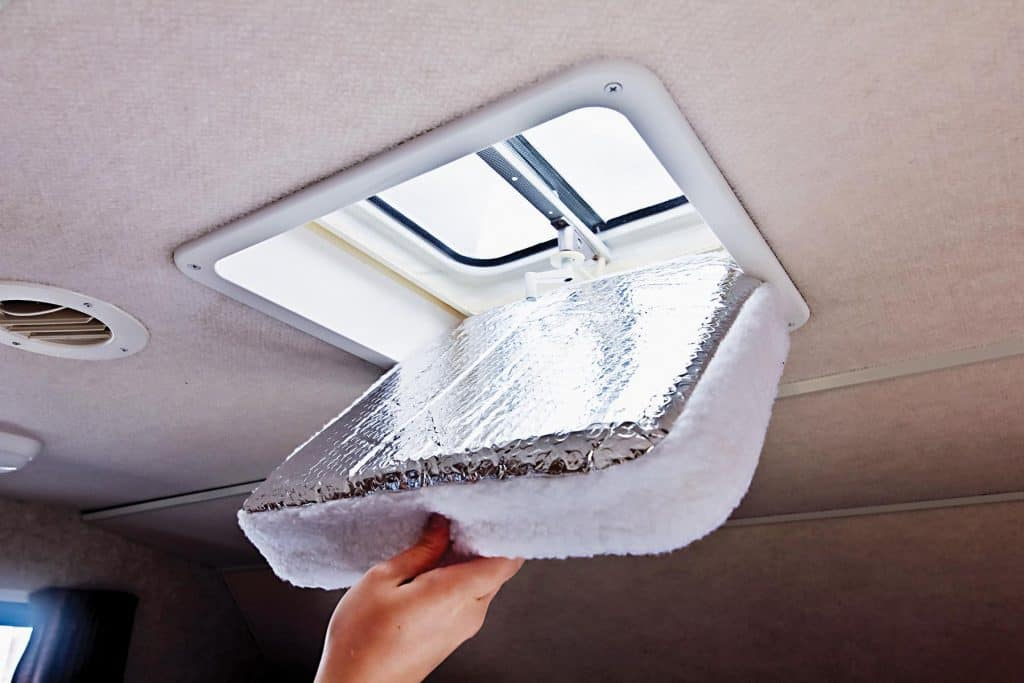 How to keep your RV cool in the summer - vent filler with reflective surface