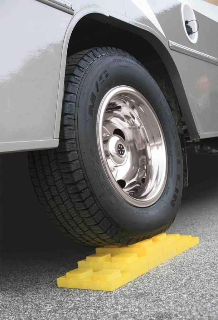 Level your RV before you stabilize it..use leveling blocks