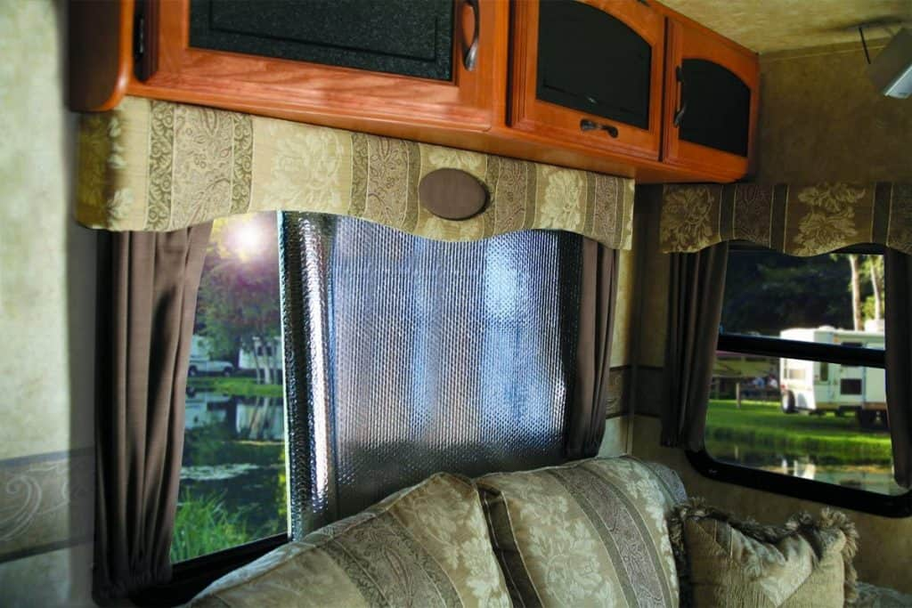 How to cool your RV in the summer - reflective window shades