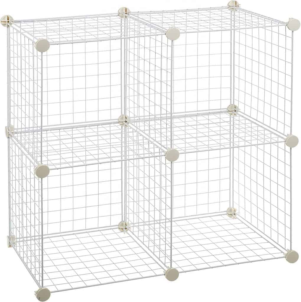 Wire cube organizers - can be used as closet cubby organizers