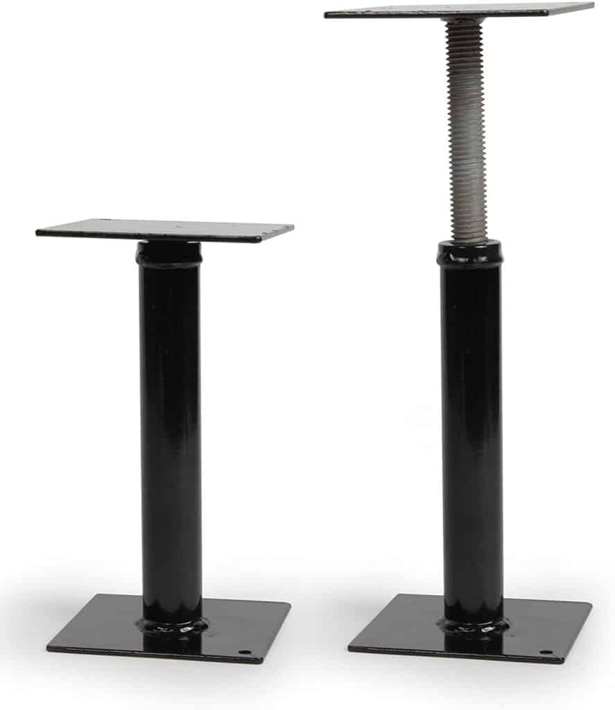 Camco RV step stabilizer support helps to prevent the rocking and swaying caused by someone entering or leaving your Rv