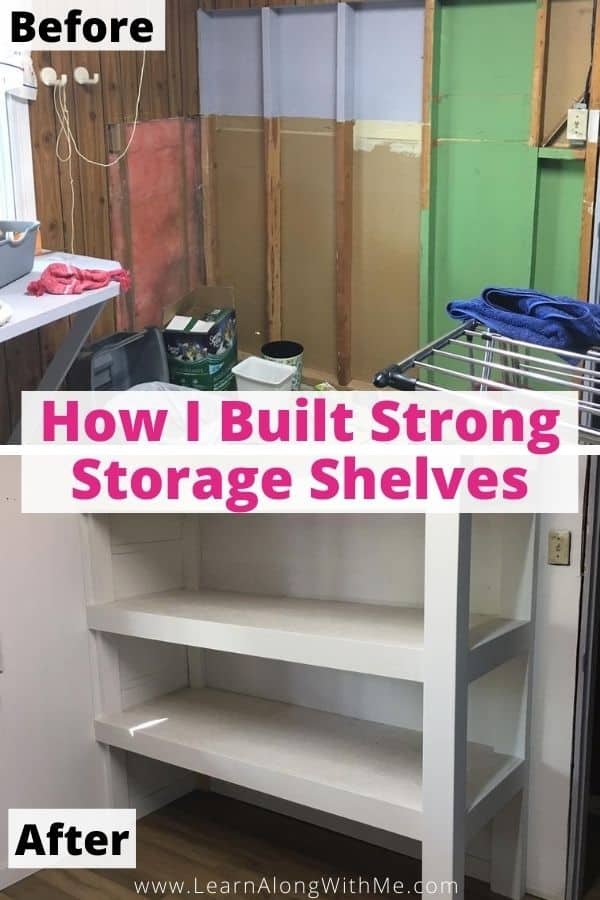 How to build strong DIY wooden storage shelves (with photos)