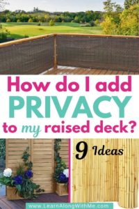 how to add privacy to a raised deck