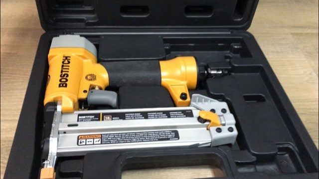 Bostich brad nailer - it is what I used to attach the trim