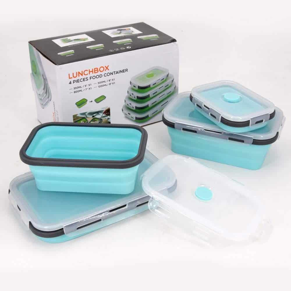 RV kitchen organization accessories - collapsible food storage bins