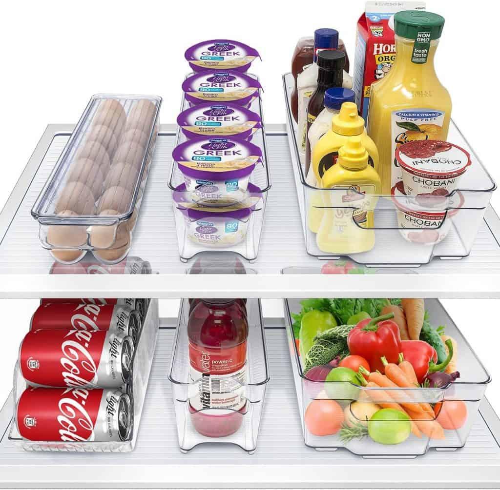 RV organization accessories - a 6 pack of fridge bins
