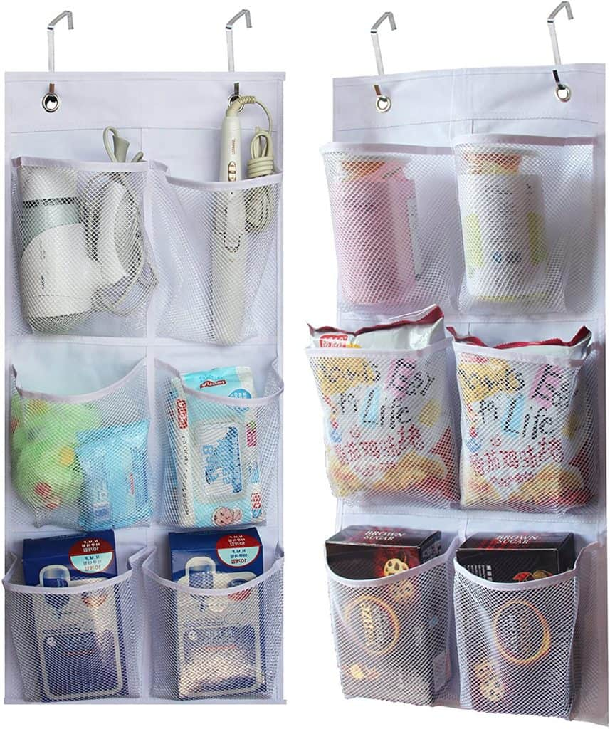 Hanging pocket organizers are great  rv organization ideas because they are so versatile