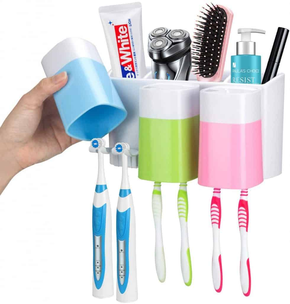 RV organization accessories - wall mounted toothbrush holders