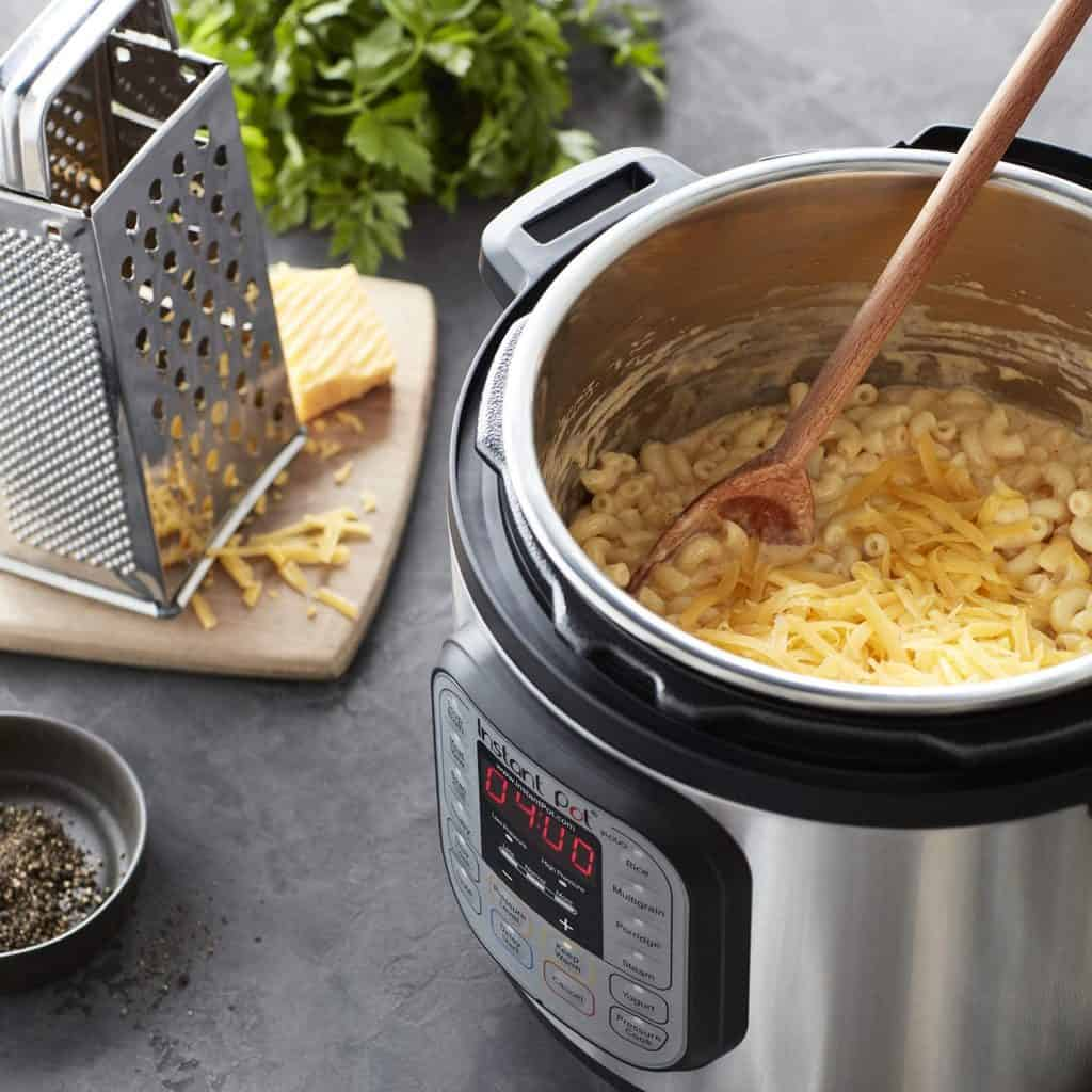 The instant pot mini makes a good camper gadget because this one device can replace up to 7 other kitchen appliances.