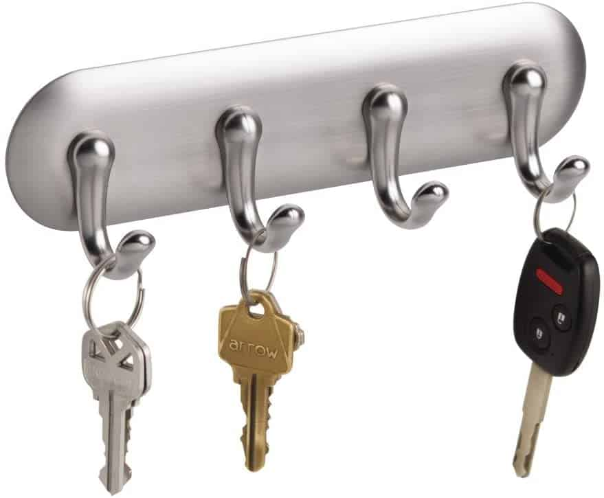 Keep your keys off the rv counter by using a wall-mounted adhesive key holder