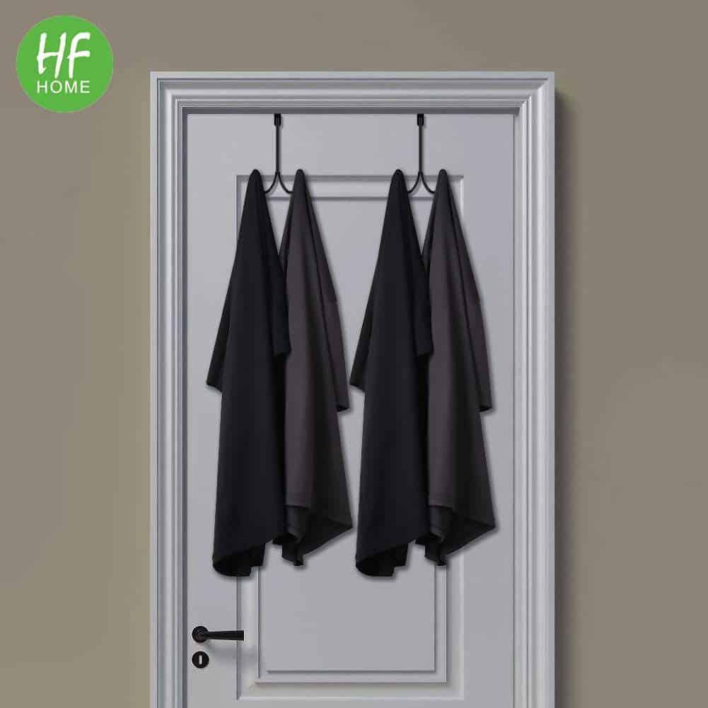 Over the door towel hook may work in your RV bathroom.