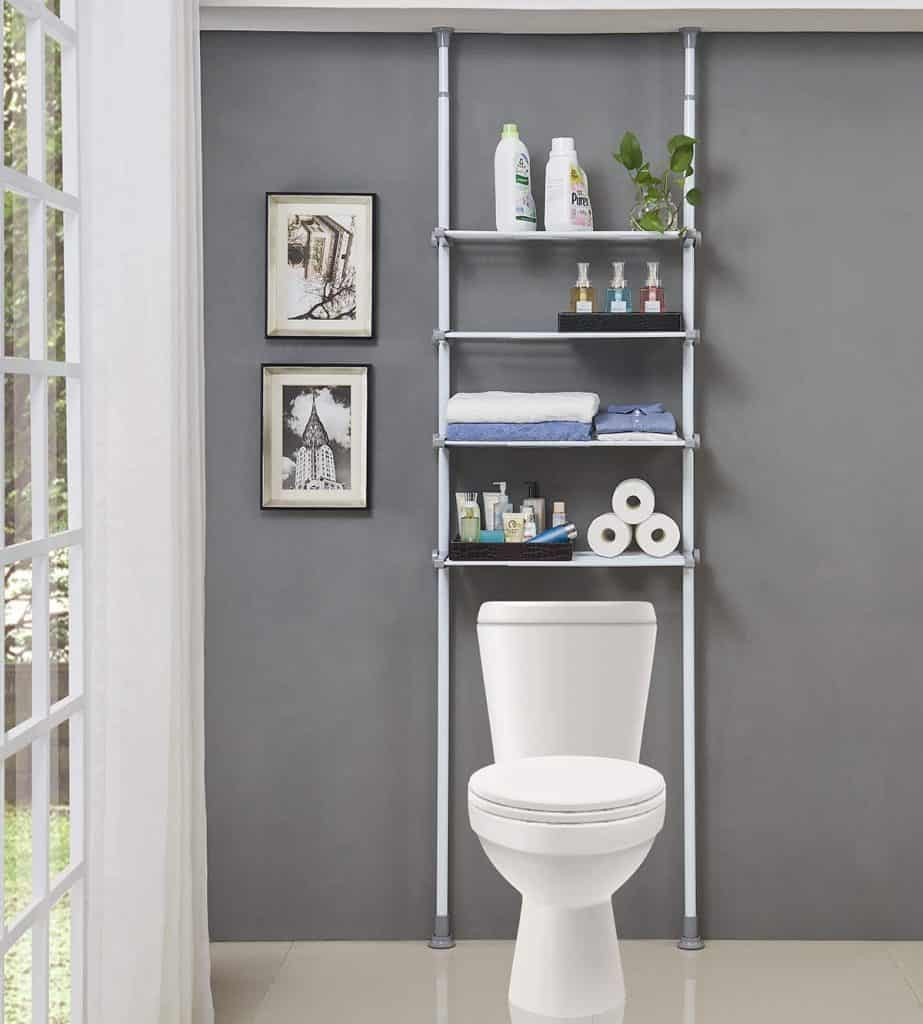 Over the toilet shelving system for your RV