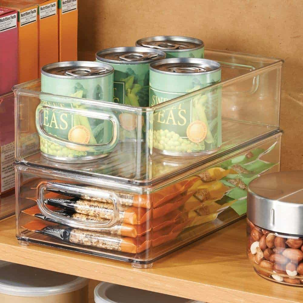 A plastic pantry organization set like this will help you organize your RV kitchen cabinets.