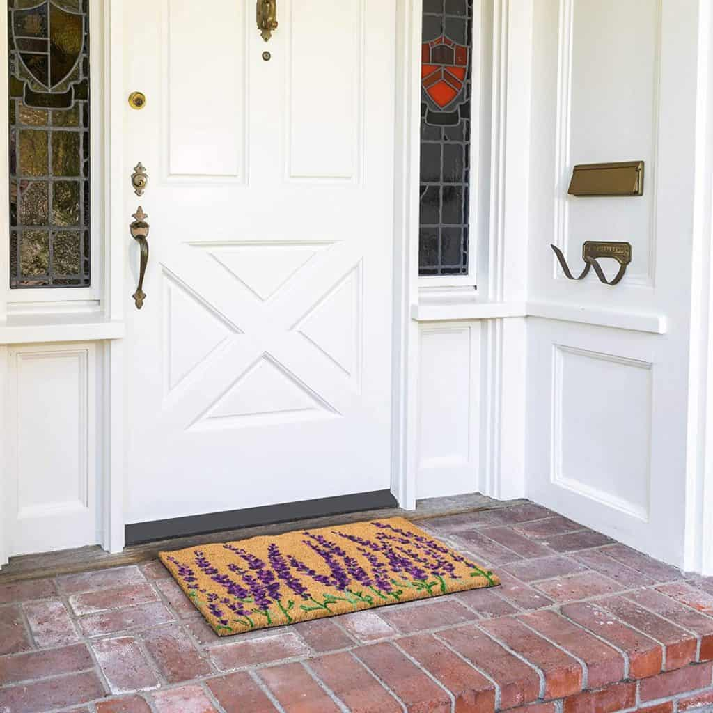 Adding an outdoor welcome mat is good way to make your RV feel more like a home.