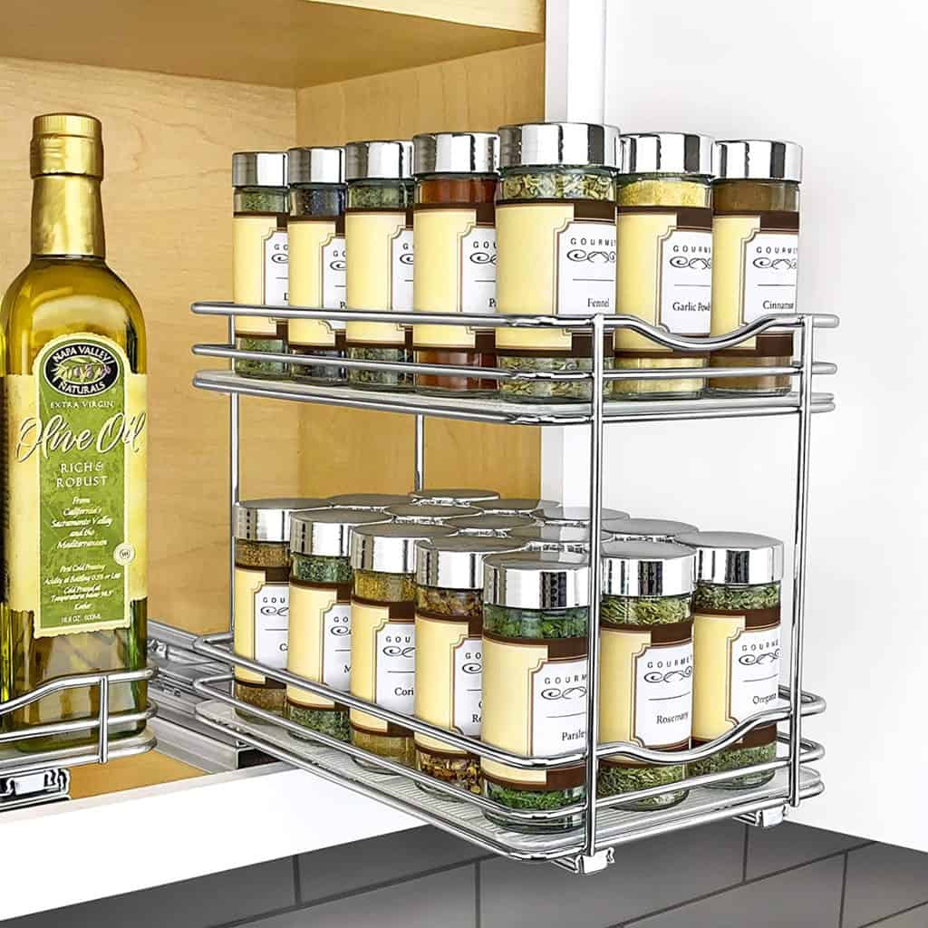 How to organize spices - lynk makes this quality sliding spice rack.  One of the great spice storage ideas from Lynk.